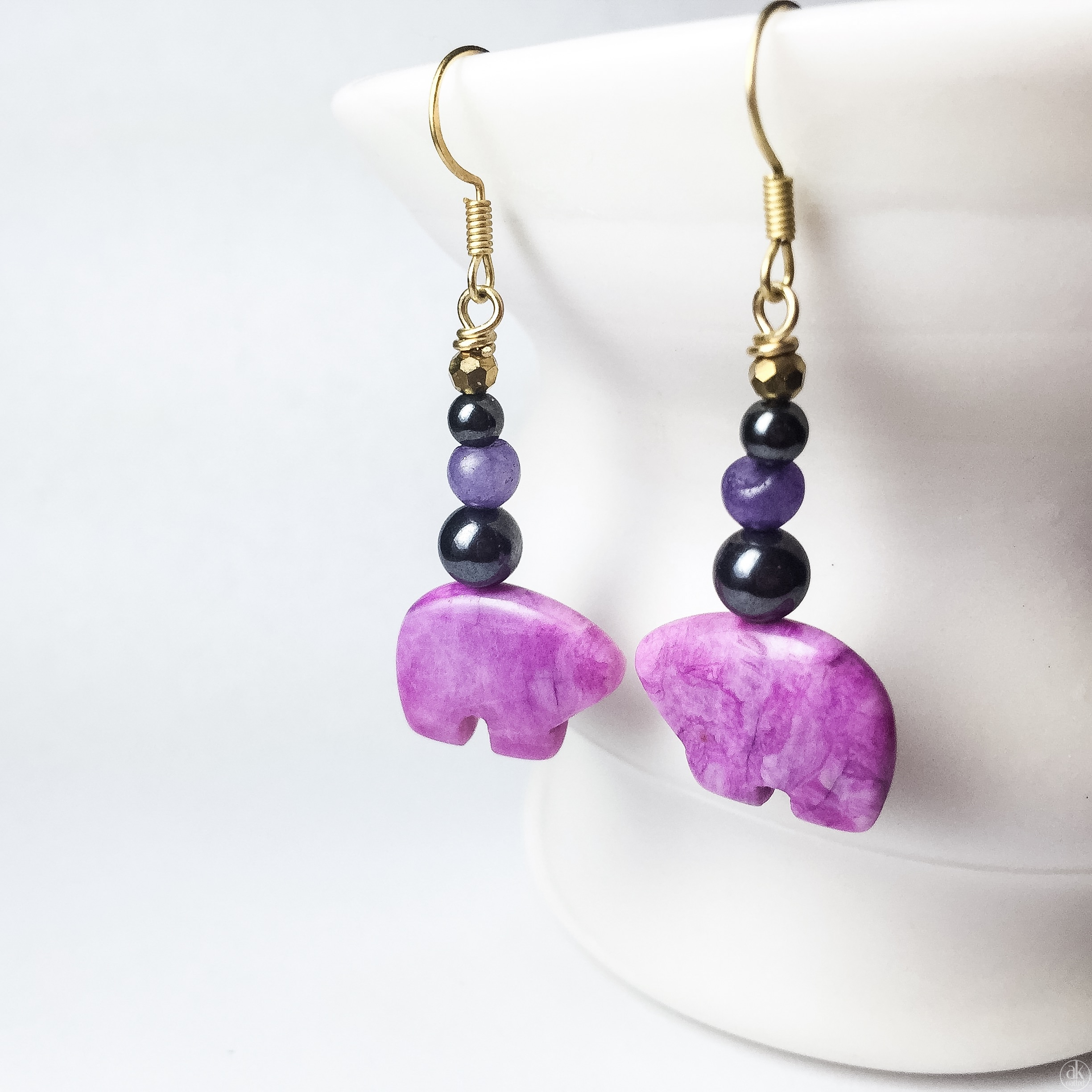 n blue earrings earring product purple shimore quartz